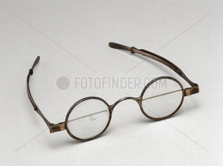 Franklin style spectacles  1720-1820.