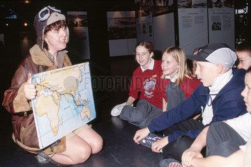 Amy Johnson drama character  Science Museum  London  c 2000.