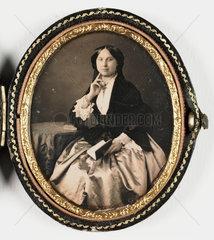 Daguerreotype of a woman  c 1850.