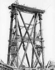 Forth Bridge  c 1888. Fife cantilever under