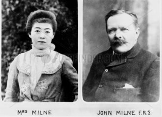 John Milne  British seismologist and geologist  and his wife  c 1900.