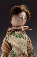 Wooden doll  English  c 1780.