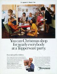 Tupperware party scene  c1960. As shown in