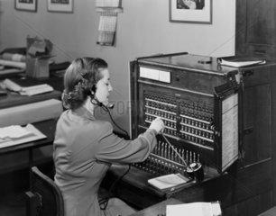 Switchboard operator  1954.