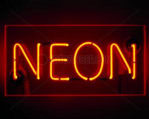 Neon sign  1930s.