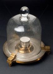 Standard Kilogramme under glass shade  c 1930s.