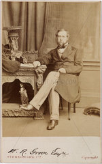 Sir William Robert Grove  lawyer and physicist  c 1860.