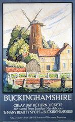 'Buckinghamshire'  LNER poster  1932.