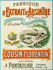 Cousin Florentin absinthe  c 1900.