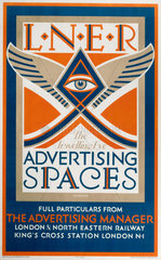 'The Travelling Eye - Advertising Space'  LNER poster  1923-1947.