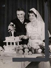 The wedding of Violet Jones and Joan Lee  5 September 1954.