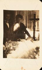 Mourning scene  c 1920.