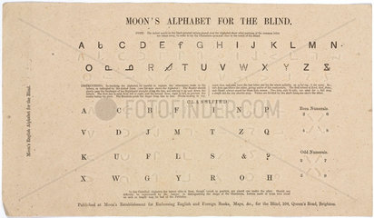 A simplified system of reading for the blind  c 1849.