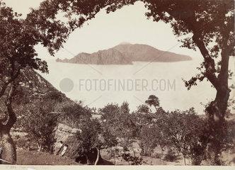 The island of Capri from Massa  Italy  c 1850-1900.