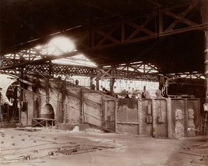 Shed and incline furnaces  South Wales  1880-1895.