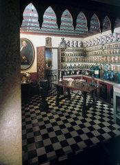 Hispano-Moresque pharmacy  Spanish  c 1790.