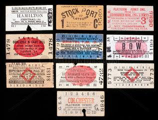 Selection of Edmondson type platform tickets  c 1920-1940.