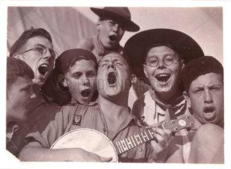 Singing scouts  c 1930.