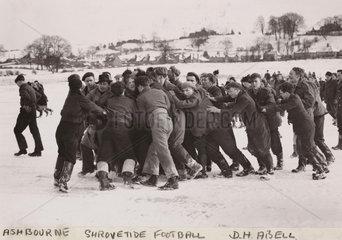 'Ashbourne Shrovetide Football'  1947.