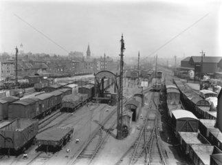 Exterior yard of Bishopsgate Goods Depot  London  1924.