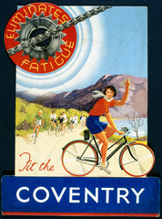 'Fit the Coventry'  bicycle chain  poster  c 1930s.