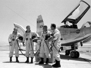 American test pilots  c 1968.