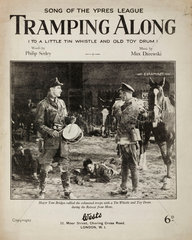 'Tramping Along'  song of the Ypres League  1926.