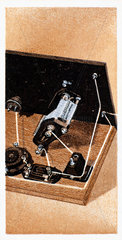 'How to build a two valve set'  No 13  Godfrey Philips cigarette card  1925.