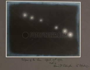 Total solar eclipse  St Petersburg  Russia  1912.