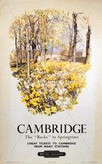 'Cambridge - The 'Backs' in Springtime'  BR (ER) poster  1950.