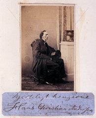 Hans Christian Andersen  Danish writer  c 1865.