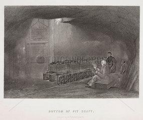 'Bottom of Pit Shaft'  Durham or Northumberland  1844.