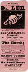 Lectures on Astronomical Geography  Aylesbury  19th century.