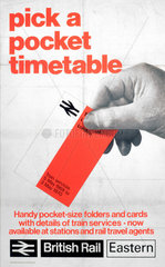 'Pick a Pocket Timetable'  poster  1970.
