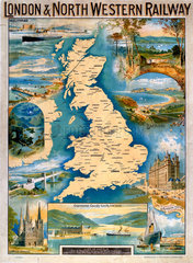 Great Britain  LNWR poster  early 20th century.