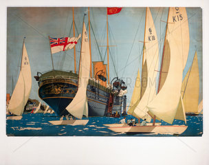 'The Royal Yacht 'Victoria and Albert''  poster artwork  c 1930s.