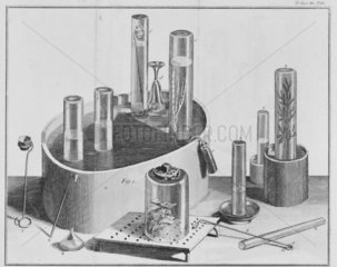Priestley's apparatus for experiments on ga