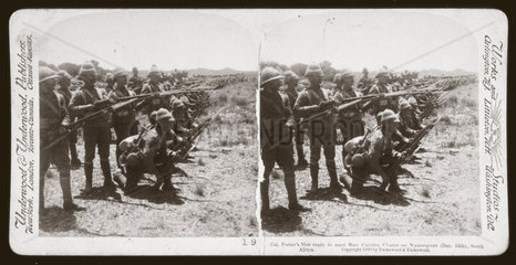 'Col Porter's Men ready to meet Boer Cavalry Charge'  South Africa  1899.