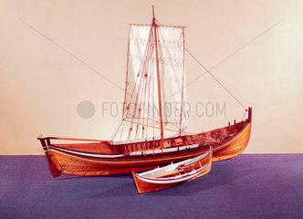 Norwegian herring boat  late 19th century.