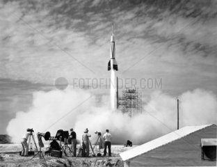 Bumper V-2 launch  Florida  USA  24 July 1950.
