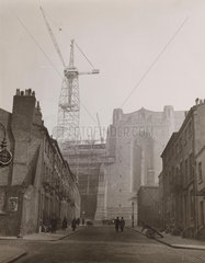Building of Liverpool Anglican Cathedral 1934.