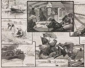 'A Family Cruise through Norfolk Waterways'  1888.