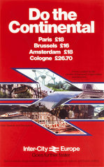 'Do the Continental'  BR poster  c 1980s.