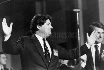 Nigel Lawson at the Tory party conference  October 1985.