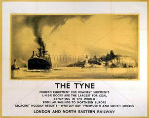 'The Tyne'  LNER poster  1932.