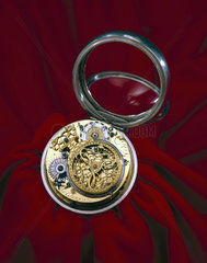 Balance spring pocket watch in silver case  1675-1679.