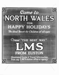 'Come to North Wales for Happy Holidays'  L