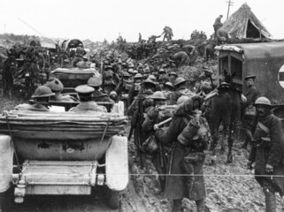 A crowded road  Somme  October 1917.