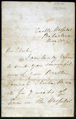 Letter from Florence Nightingale  May 1856.