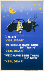 'We Should Have Gone By Train'  BR poster  c 1960s.